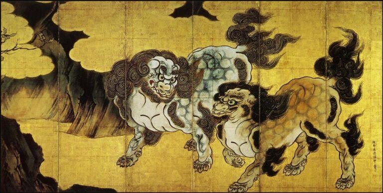 唐獅子図屏風(からししずびょうぶ)